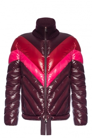 'albatros' quilted jacket with ribbed collar od Moncler