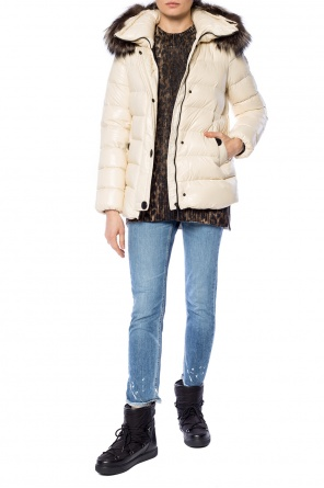 Jacket with fur collar od Moncler