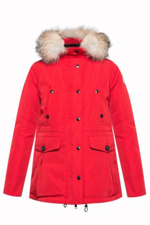 Fur hood down jacket od Moncler