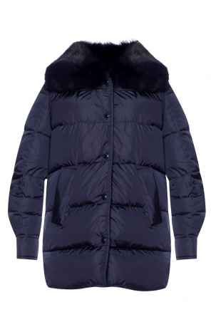 Quilted down jacket with detachable collar od Moncler