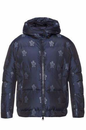 'effraie' down jacket with an embroidered logo od Moncler
