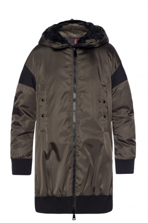 Down jacket with zip-up hood od Moncler