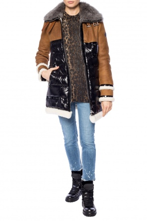 Quilted jacket with fur collar od Moncler