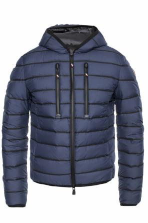 'emerald' striped down jacket od Moncler Grenoble