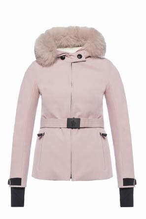 Down jacket with fur hood od Moncler Grenoble