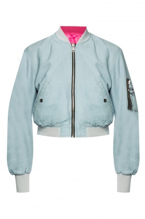 Cropped jacket with elastic trims od Diesel
