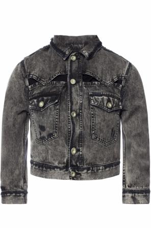 Denim jacket with holes od Diesel