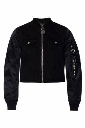 Bomber jacket with denim insert od Diesel