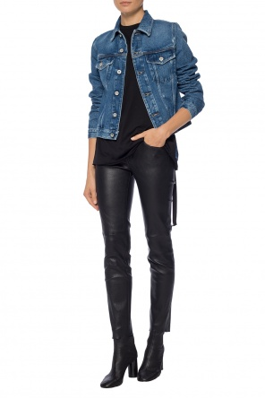 'de-velvet giacca' jacket with tears od Diesel