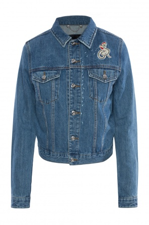 Embroidered denim jacket od Diesel