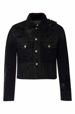 Patched cropped jacket od Diesel