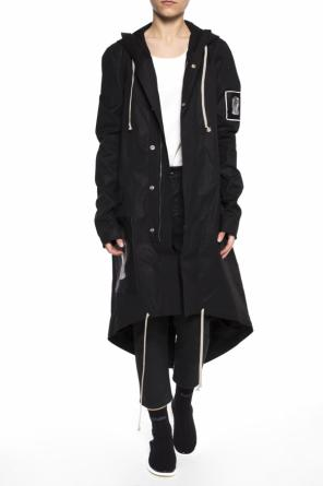 Parka with patches od Rick Owens DRKSHDW