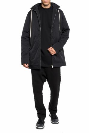 Insulated jacket with a hidden hood od Rick Owens DRKSHDW