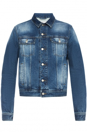 Distressed denim jacket od Ami Alexandre Mattiussi