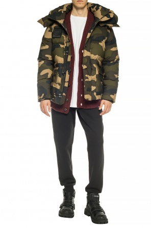 Quilted jacket with camo motif od Moncler