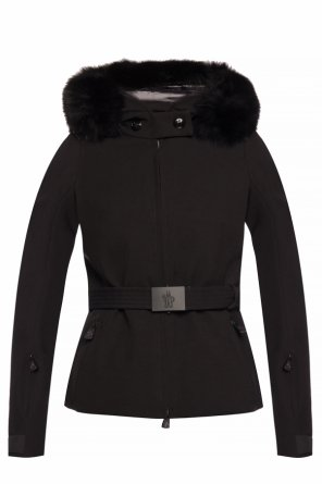 'bauges' jacket with fur trim od Moncler Grenoble