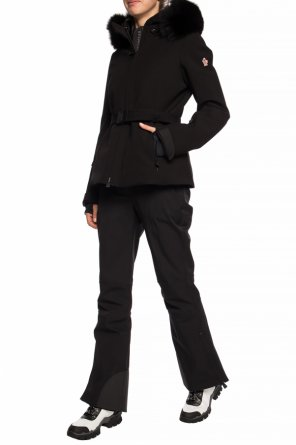 'bauges' jacket with fur trim od Moncler Grenoble
