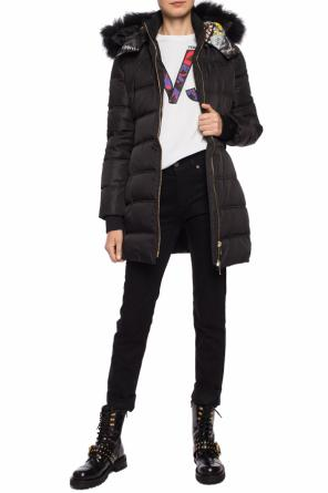Hooded quilted jacket od Versace Jeans