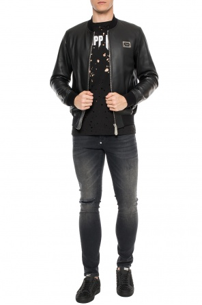 Leather bomber jacket od Philipp Plein
