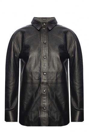 Leather shirt od Samsøe Samsøe