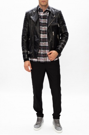 Biker jacket with logo od Philipp Plein