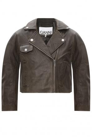 Leather biker jacket od Ganni
