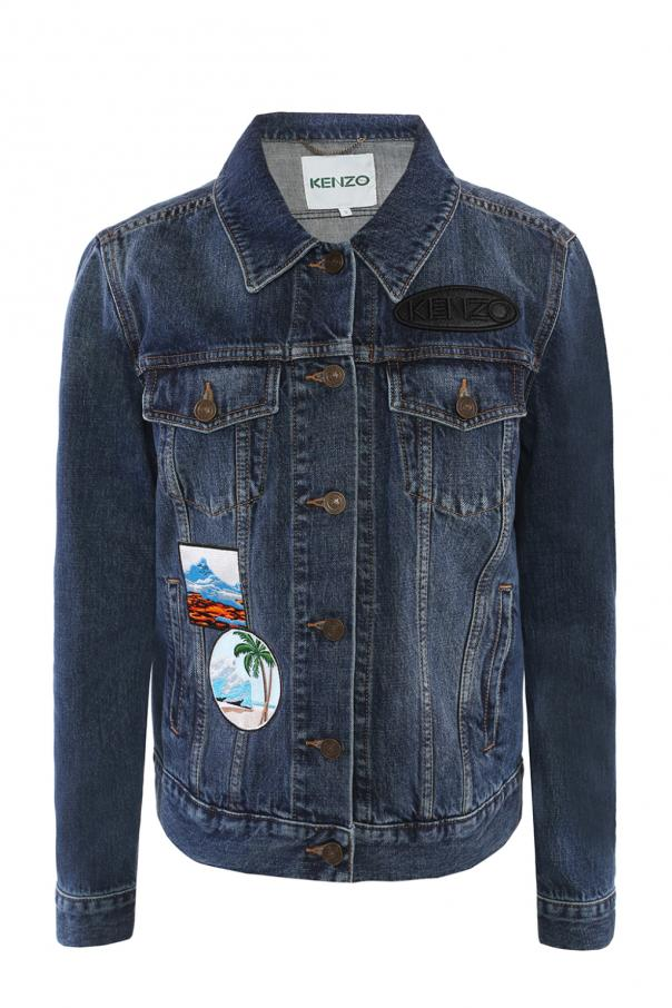 6c01fbf8 Patched denim jacket Kenzo - Vitkac shop online