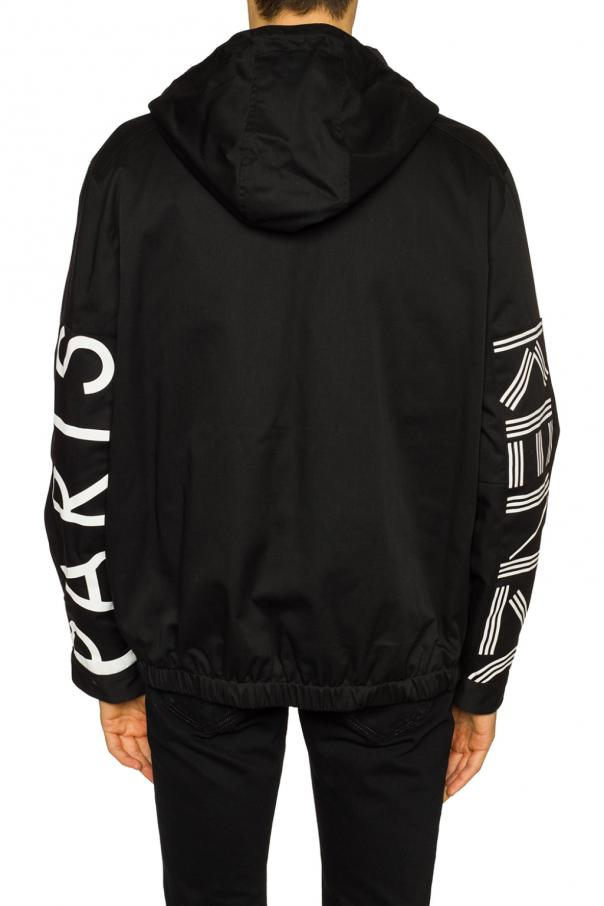Jacket with logo at sleeves od Kenzo