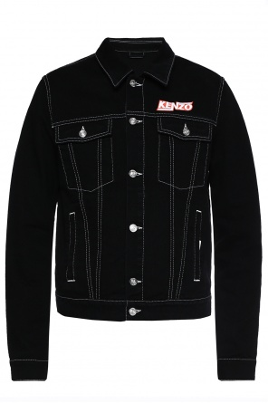 Logo-embroidered denim jacket od Kenzo