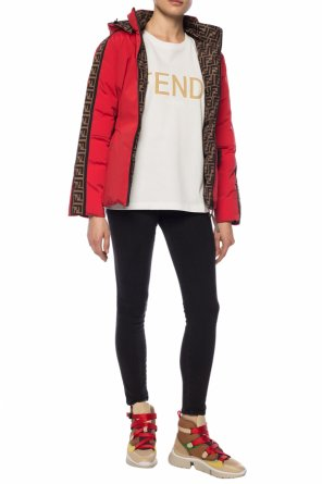 Patterned down jacket od Fendi