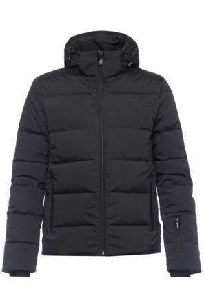 Adorned quilted down jacket od Fendi