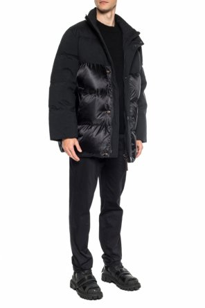 Band collar quilted down jacket od Acne