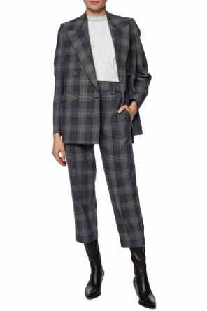 Checked double-breasted blazer od Acne