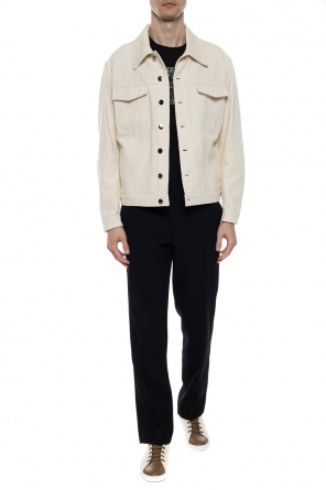 Logo-embroidered jacket od Fendi
