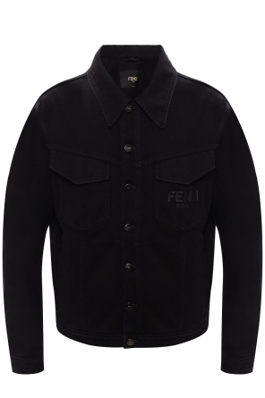 Denim jacket with logo od Fendi