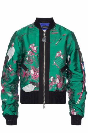 Patterned bomber jacket od Diesel