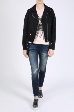 Denim biker jacket od Diesel