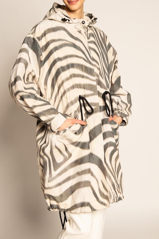 Moncler 'O' 'Achrid' coat with logo