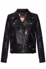 Leather biker jacket od Golden Goose