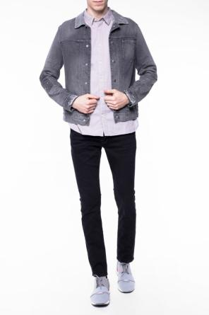 Distressed denim jacket od AllSaints