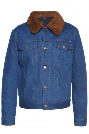 Denim jacket with detachable collar od Ami Alexandre Mattiussi