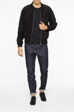 Suede bomber jacket od Ami Alexandre Mattiussi