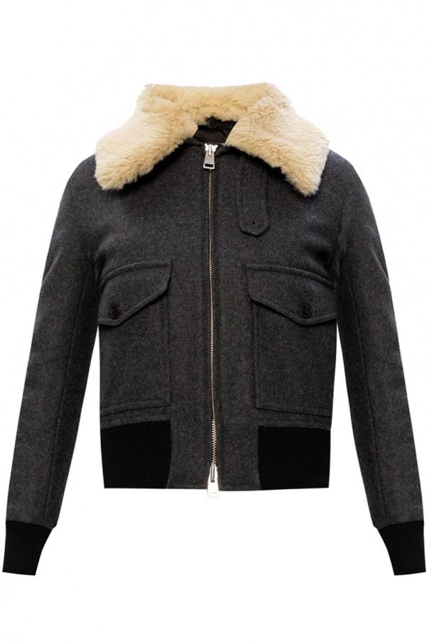 Ami Alexandre Mattiussi Fur collar jacket