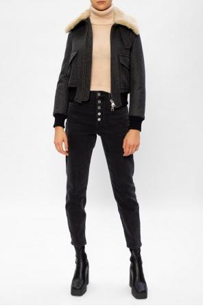 Fur collar jacket od Ami Alexandre Mattiussi