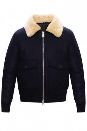 Faux-shearling collar jacket od Ami Alexandre Mattiussi