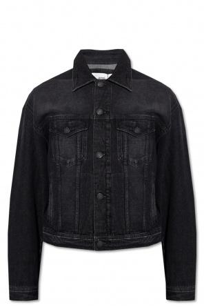 Distressed denim jacket od Ami Alexandre Mattiussi