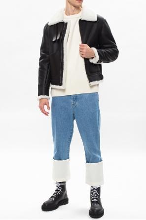 Shearling aviator jacket od Loewe