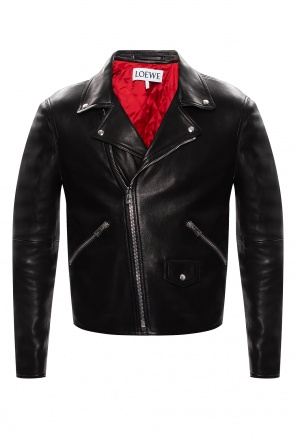 Leather biker jacket od Loewe