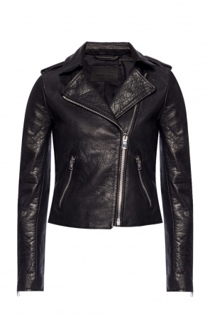 'hadi' leather jacket od AllSaints