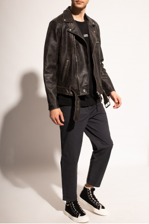 'hank' leather jacket od AllSaints